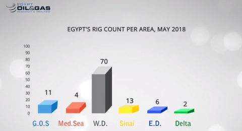 Egypt's Rig Count Per Area, May 2018
