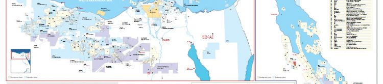 Egypt Oil and Gas Concession Map May 2020