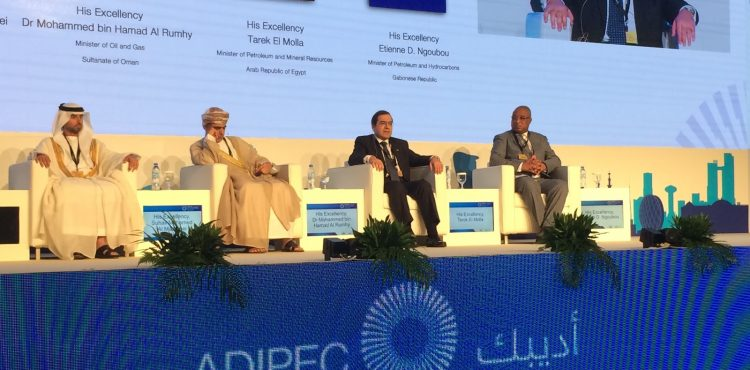 Tarek El Molla Speakes at Adipec