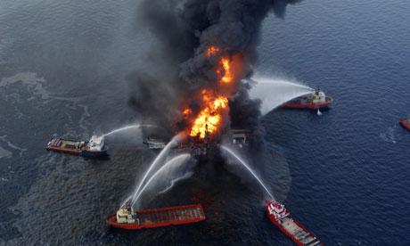 Azeri Offshore Oil Platform on Fire, 32 Killed