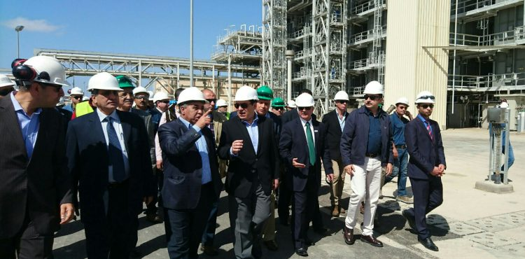 Oil Minister Visits Alexandria Petrochemical Projects