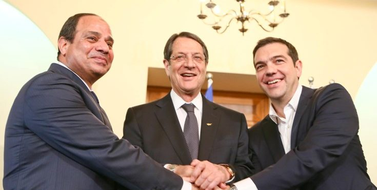 East-Med Trilateral Summit Held in Cairo