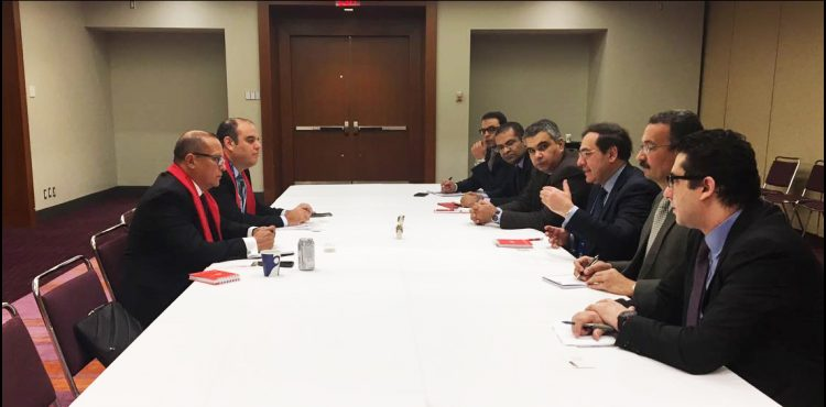 El Molla Met with Peruvians Minister of Energy and Mines in Canada