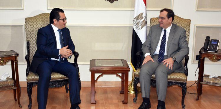 El Molla Meets Kazakhstan Ambassador to Egypt