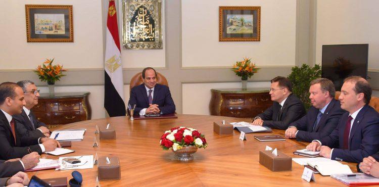 El Sisi, ROSATOM Discuss El Dabaa Nuclear Plant