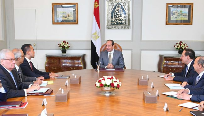 Sisi Discusses Energy Sector Cooperation with Italian Deputy PM