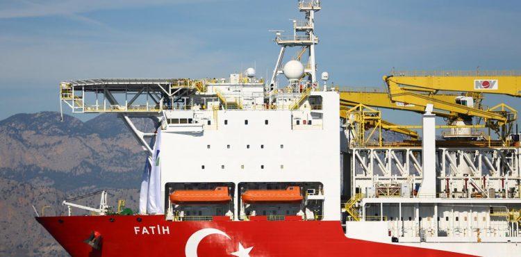 Turkish Oil Ship Drills in Mediterranean