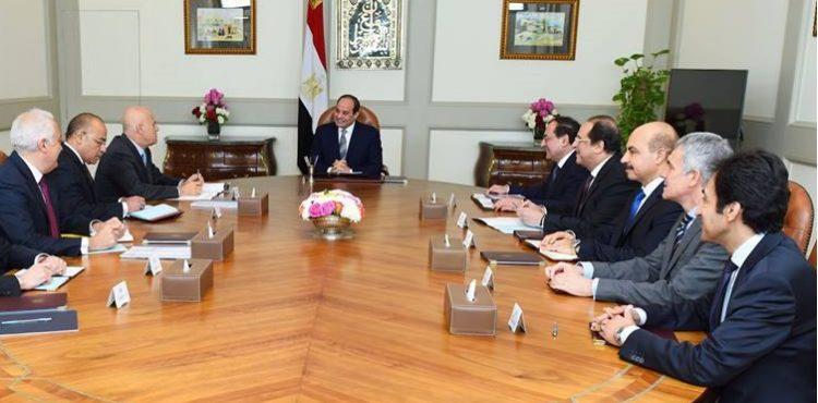 El Sisi Praises Eni Business in Egypt