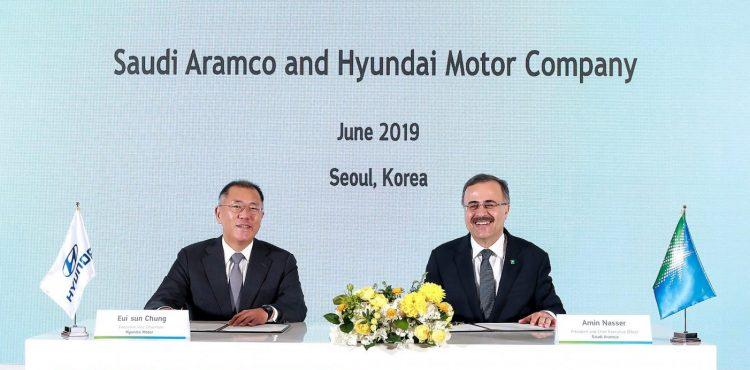 Aramco, Hyundai Ink MoU For Hydrogen Fuel, Non-Metallic Materials