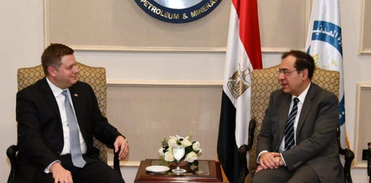 El Molla, Steff Discuss Boosting E&P Activities in Egypt
