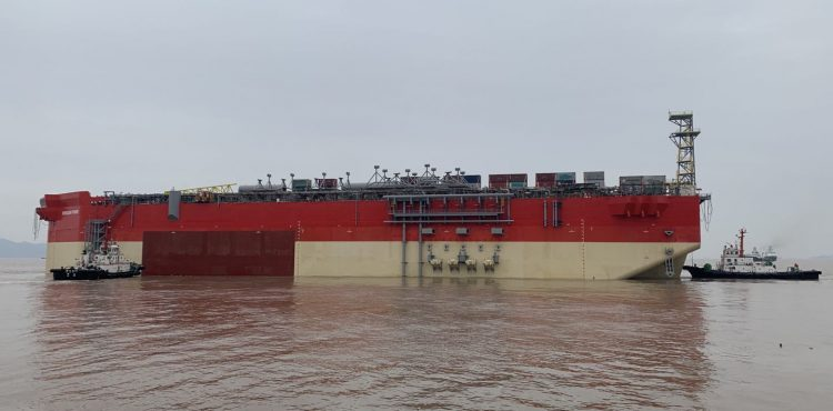 EnergeanFPSO Hull Departs from China