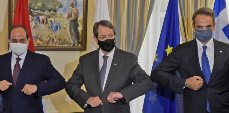 Al-Sisi Praises EMGFDuring Tripartite Summit with Cyprus, Greece