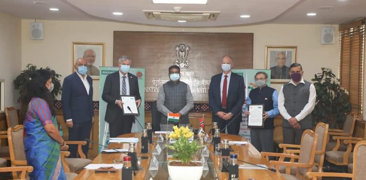 India, Norway Sign Statement of Intent for Establishing Hydrogen Excellence Center