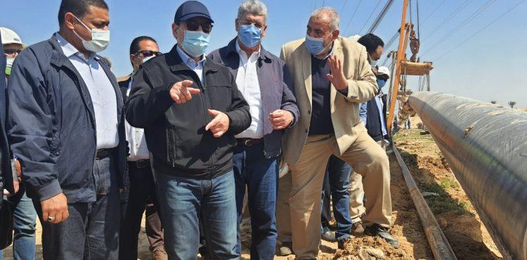 El Molla Inspects Progress of New Alamein Pipeline Project