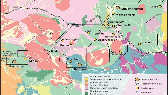 Aton, Energold Sign Drilling Contract for Abu Marawat Concession