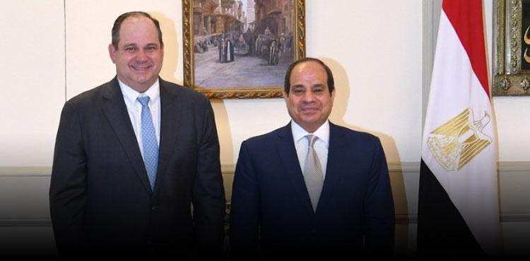 Sisi Discusses Cooperation Opportunities with Apache CEO